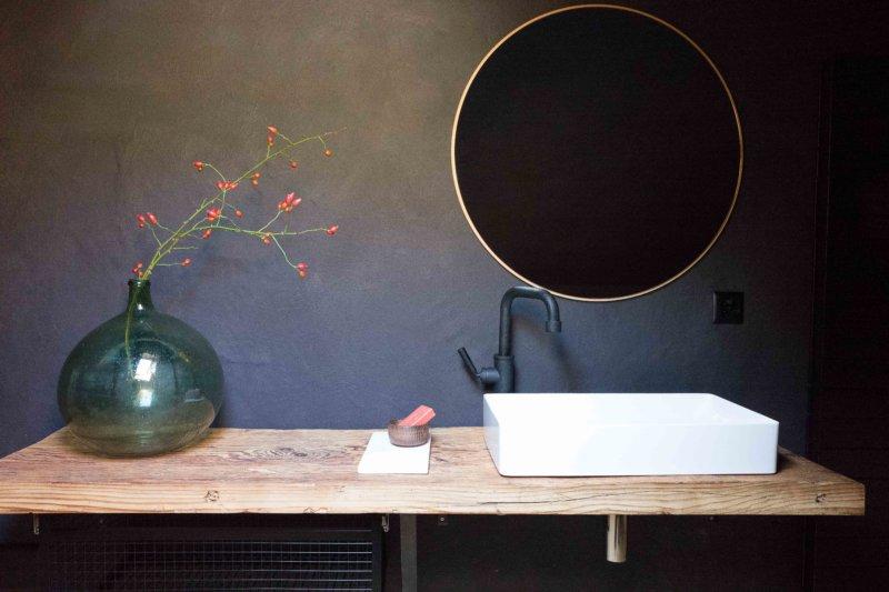 Black Bath mit Altholzwaschtisch