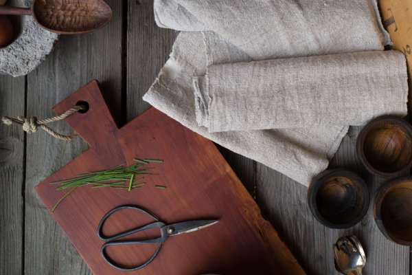 Grosses Küchenbrett aus altem Birnbaumholz